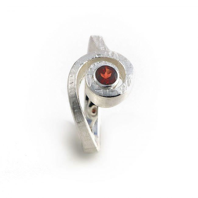 925/-Silber, Granat
